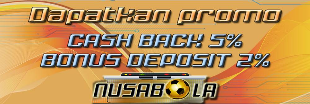 bonus cashback dan bonus deposit nusabola