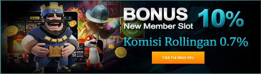 bonus new member 10%