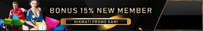bonus new member 15%